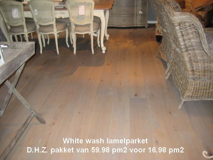 Whitewash lamelparket