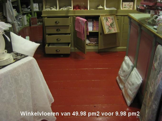 Winkelvloeren €9,98 m²